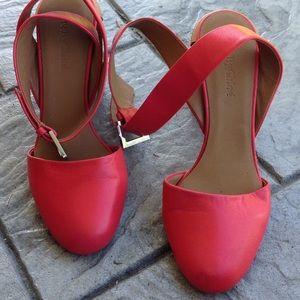 Seeby Chloe square heel sandals.